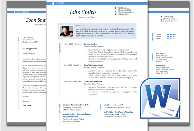 design clean professional resume cv template word