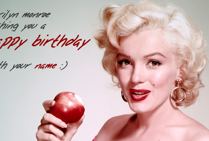 Happy Birthday Marilyn Monroe Marilyn Monroe Happy Birthday Mr