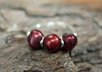 make a sterling silver cranberry faceted cut Pearl ring small1