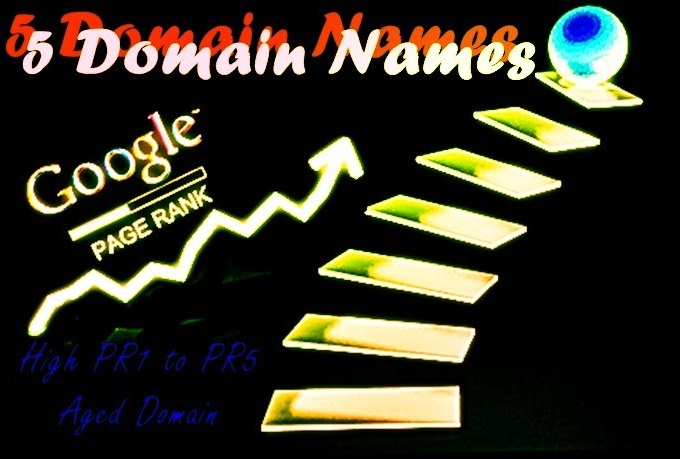 find you 5 high PR1 to PR4 aged domain names available for registration