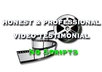 record a professional and HONEST video testimonial for your website, product, or service