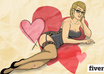 draw you or any one you know as a pinup girl