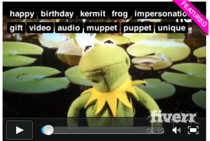 make a video of Kermit singing a personalized version of the Happy Birthday song