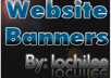 create a custom high quality website header or banner