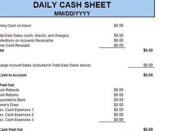 pin daily cash register balance sheet template on pinterest. Black Bedroom Furniture Sets. Home Design Ideas