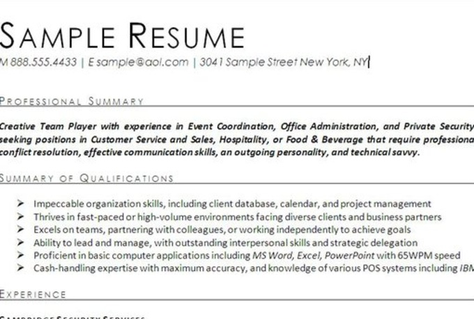 resume how to sell your in objective