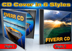 create a CD ecover in six styles with your images