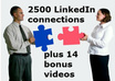 get you massive LinkedIn connections and bonus videos