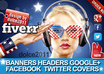 design any banner, header, facebook timeline, Google+ Cover, NEW Twitter Cover