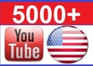 give you 5000+ real USA youtube views [Non mobile youtube views within 48 hours]