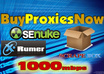 give you FIVE Blazing Fast Private Proxies on our New 1000Mbps Proxy Servers