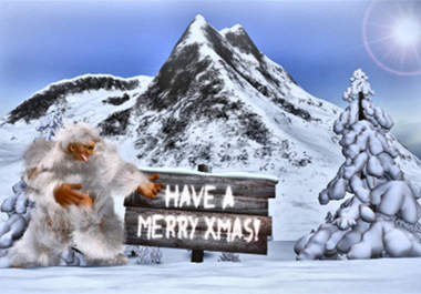 funny - I will make the funny Yeti dance like crazy and reveal your Christmas and New Year video greetings with music for $5 DancingYeti