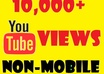 deliver 10,000+ YouTube Views [Non Mobile Views] within a few days
