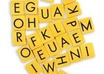 use scrabble tile letters to write your message