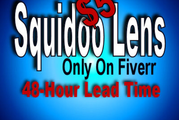 create the BEST Squidoo Lens On Fiverr