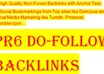 manually make and ping  20 high PR dofollow Panda safe nonforum backlinks for your website