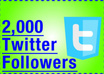 get you 2000 TWITTER followers on your Twitter profile to skyrocket your follower count