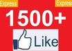 give 1500+[Guaranteed] Facebook likes to your facebook fanpage,likes in 48 hours