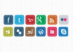 design killer facebook, twitter and RSS social media icons for your website or blog