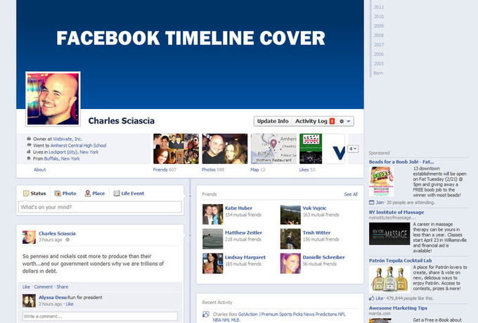 design a professional Facebook Timeline Cover for your ...