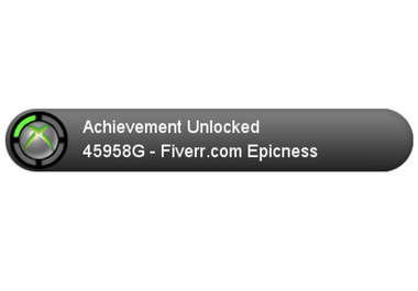 create an xbox 360 achievement unlocked image fiverr