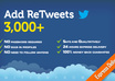 make 3,000+ [ Biggest Pack] RETWEETs to your Tweet in less than 24 hours small1