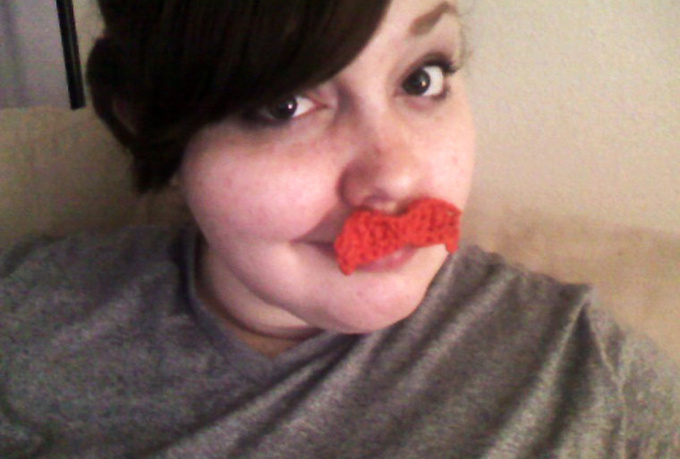 make you a sweet mustache in the color of your choice