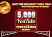 give you 5000+ youtube video views in 48 hours